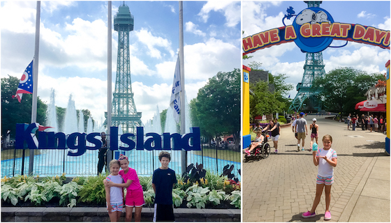 kings island entrance collage